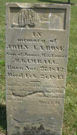 KIMBALL, JOHN LAROSE - Montgomery County, Ohio | JOHN LAROSE KIMBALL - Ohio Gravestone Photos