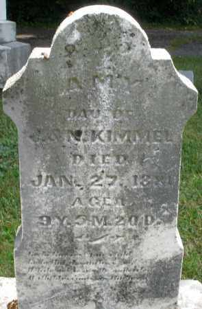 KIMMEL, AMY - Montgomery County, Ohio | AMY KIMMEL - Ohio Gravestone Photos