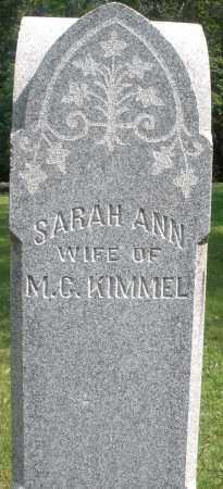 KIMMEL, SARAH ANN - Montgomery County, Ohio | SARAH ANN KIMMEL - Ohio Gravestone Photos