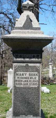 BERK KIMMERLE, MARY - Montgomery County, Ohio | MARY BERK KIMMERLE - Ohio Gravestone Photos