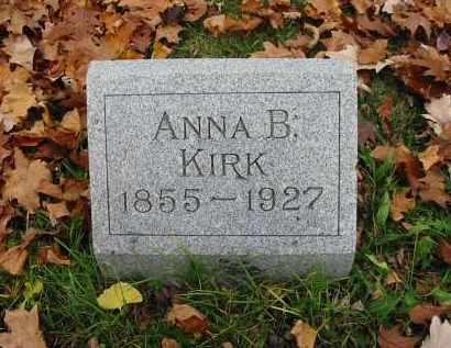 KIRK, ANNA B. - Montgomery County, Ohio | ANNA B. KIRK - Ohio Gravestone Photos