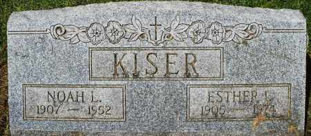 KISER, ESTHER I. - Montgomery County, Ohio | ESTHER I. KISER - Ohio Gravestone Photos