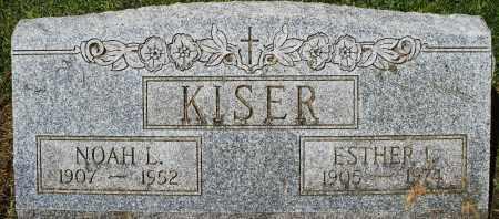 KISER, NOAH L. - Montgomery County, Ohio | NOAH L. KISER - Ohio Gravestone Photos