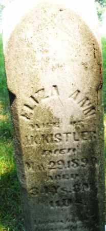 KISTLER, ELIZA ANN - Montgomery County, Ohio | ELIZA ANN KISTLER - Ohio Gravestone Photos