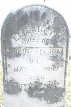 KITSON, ELIZABETH - Montgomery County, Ohio | ELIZABETH KITSON - Ohio Gravestone Photos