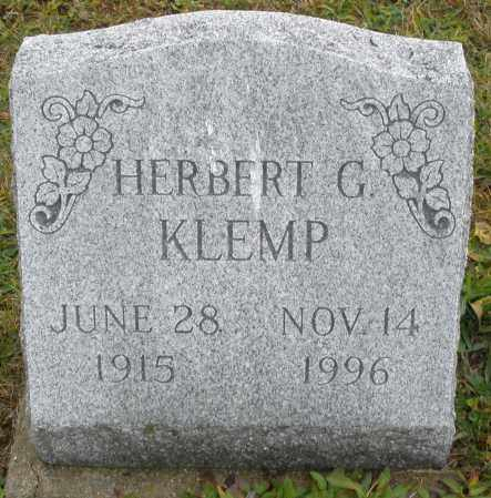 KLEMP, HERBERT G. - Montgomery County, Ohio | HERBERT G. KLEMP - Ohio Gravestone Photos