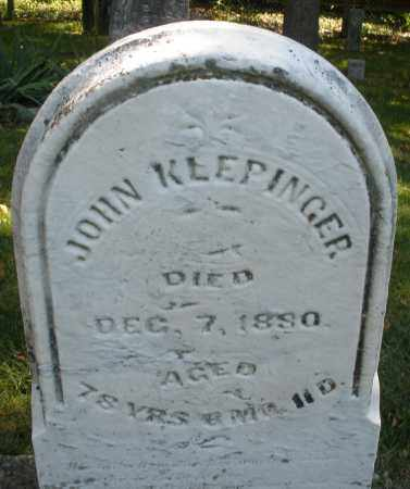 KLEPINGER, JOHN - Montgomery County, Ohio | JOHN KLEPINGER - Ohio Gravestone Photos