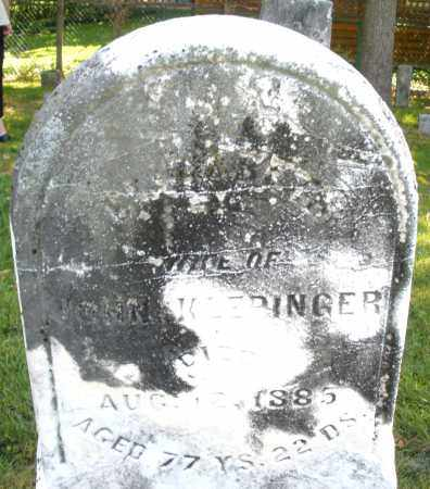 KLEPINGER, WIFE - Montgomery County, Ohio | WIFE KLEPINGER - Ohio Gravestone Photos