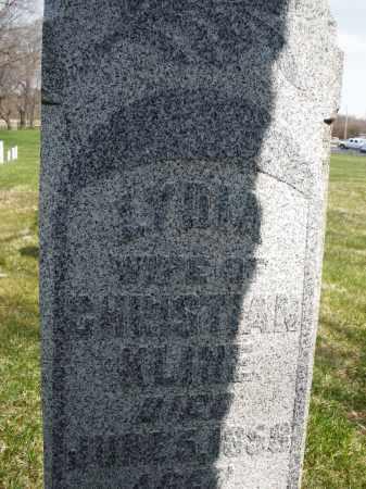 KLINE, LYDIA - Montgomery County, Ohio | LYDIA KLINE - Ohio Gravestone Photos