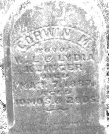 KLINGER, CORWIN M. - Montgomery County, Ohio | CORWIN M. KLINGER - Ohio Gravestone Photos