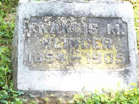 KLINGER, FRANCIS M. - Montgomery County, Ohio | FRANCIS M. KLINGER - Ohio Gravestone Photos