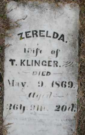 KLINGER, ZERELDA - Montgomery County, Ohio | ZERELDA KLINGER - Ohio Gravestone Photos