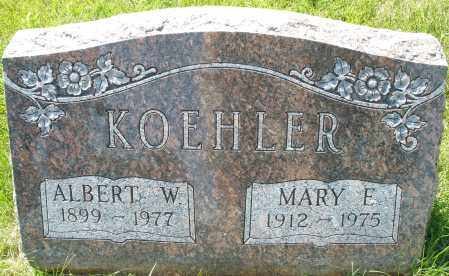 KOEHLER, ALBERT W. - Montgomery County, Ohio | ALBERT W. KOEHLER - Ohio Gravestone Photos