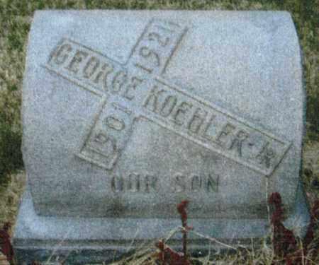 KOEHLER, GEORGE - Montgomery County, Ohio | GEORGE KOEHLER - Ohio Gravestone Photos