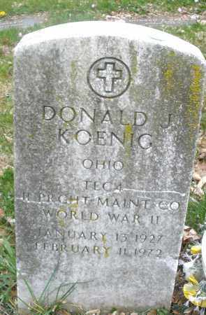 KOENIG, DONALD J. - Montgomery County, Ohio | DONALD J. KOENIG - Ohio Gravestone Photos