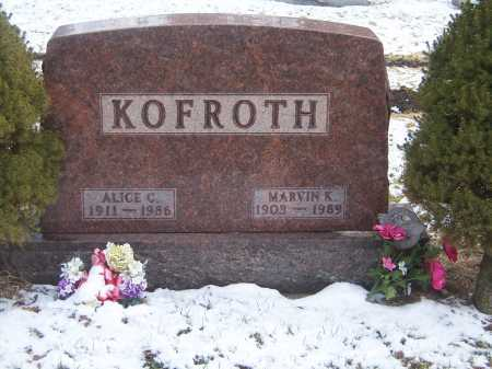 KOFROTH, MARVIN K. - Montgomery County, Ohio | MARVIN K. KOFROTH - Ohio Gravestone Photos