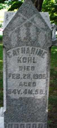 KOHL, CATHARINE - Montgomery County, Ohio | CATHARINE KOHL - Ohio Gravestone Photos