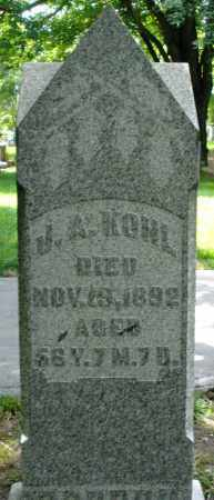 KOHL, J.A. - Montgomery County, Ohio | J.A. KOHL - Ohio Gravestone Photos