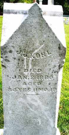 KOHL, J.J. - Montgomery County, Ohio | J.J. KOHL - Ohio Gravestone Photos