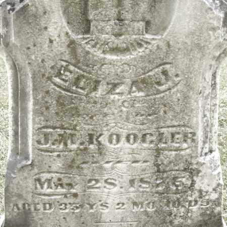 KOOGLER, ELIZA J. - Montgomery County, Ohio | ELIZA J. KOOGLER - Ohio Gravestone Photos