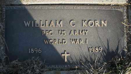KORN, WILLIAM C. - Montgomery County, Ohio | WILLIAM C. KORN - Ohio Gravestone Photos