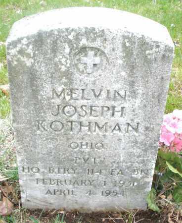 KOTHMAN, MELVIN JOSEPH - Montgomery County, Ohio | MELVIN JOSEPH KOTHMAN - Ohio Gravestone Photos
