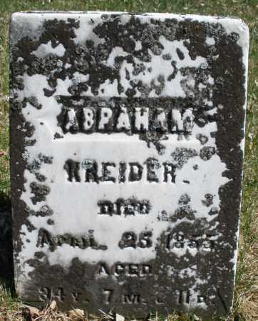 KREIDER, ABRAHAM - Montgomery County, Ohio | ABRAHAM KREIDER - Ohio Gravestone Photos
