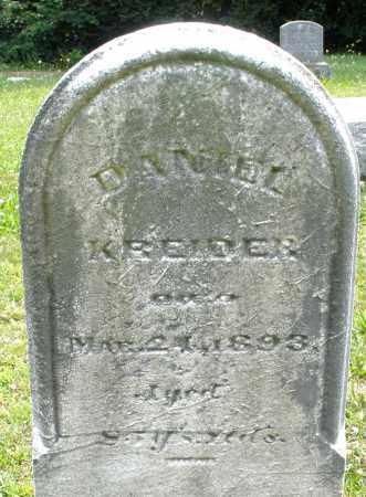 KREIDER, DANIEL - Montgomery County, Ohio | DANIEL KREIDER - Ohio Gravestone Photos