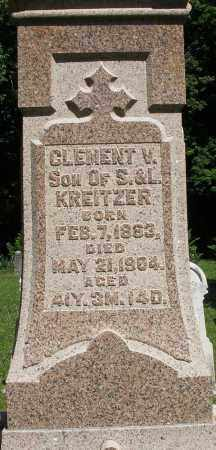 KREITZER, CLEMENT V. - Montgomery County, Ohio | CLEMENT V. KREITZER - Ohio Gravestone Photos