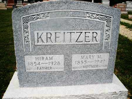 KREITZER, MARY M. - Montgomery County, Ohio | MARY M. KREITZER - Ohio Gravestone Photos