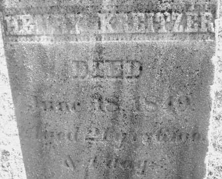 KREITZER, HENRY - Montgomery County, Ohio | HENRY KREITZER - Ohio Gravestone Photos