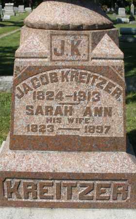 KREITZER, SARAH ANN - Montgomery County, Ohio | SARAH ANN KREITZER - Ohio Gravestone Photos