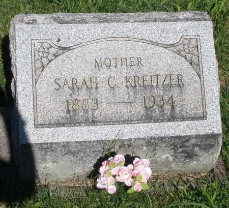 KREITZER, SARAH C. - Montgomery County, Ohio | SARAH C. KREITZER - Ohio Gravestone Photos