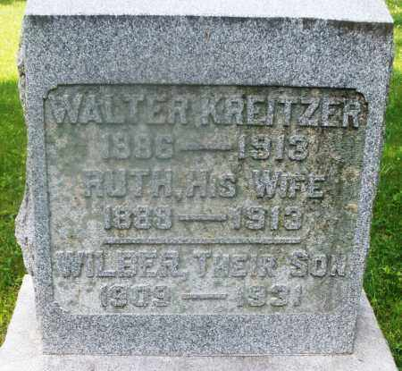 KREITZER, WALTER - Montgomery County, Ohio | WALTER KREITZER - Ohio Gravestone Photos