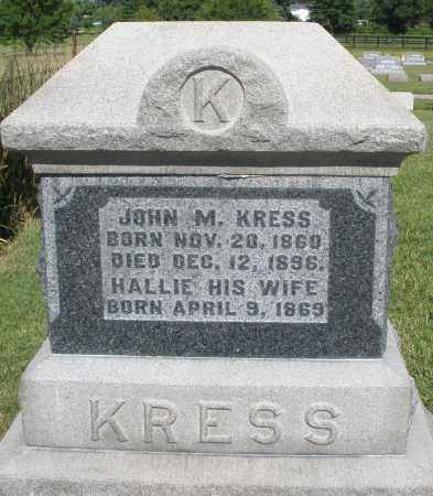 KRESS, JOHN M. - Montgomery County, Ohio | JOHN M. KRESS - Ohio Gravestone Photos