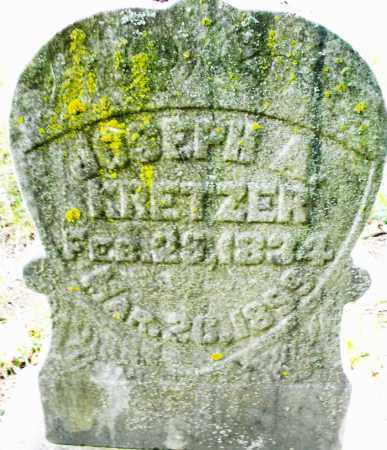 KRETZER, JOSEPH A. - Montgomery County, Ohio | JOSEPH A. KRETZER - Ohio Gravestone Photos
