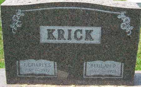 KRICK, BEULAH R - Montgomery County, Ohio | BEULAH R KRICK - Ohio Gravestone Photos