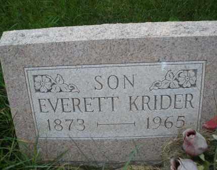 KRIDER, EVERETT - Montgomery County, Ohio | EVERETT KRIDER - Ohio Gravestone Photos