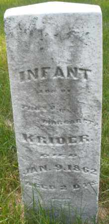 KRIDER, INFANT - Montgomery County, Ohio | INFANT KRIDER - Ohio Gravestone Photos