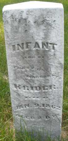KRIDER, INFANT - Montgomery County, Ohio   INFANT KRIDER - Ohio Gravestone Photos