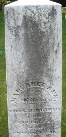 KRIDER, MARGARET ANN - Montgomery County, Ohio | MARGARET ANN KRIDER - Ohio Gravestone Photos