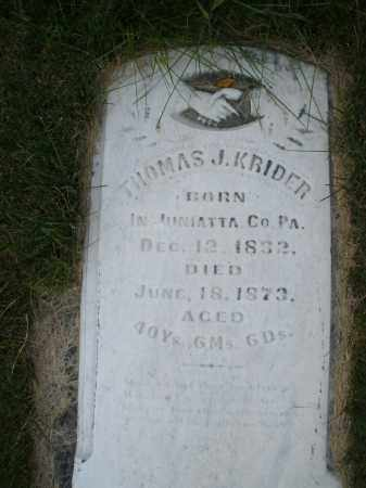 KRIDER, THOMAS J. - Montgomery County, Ohio | THOMAS J. KRIDER - Ohio Gravestone Photos