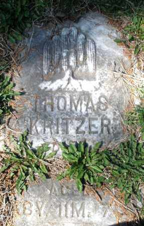 KRITZER, THOMAS - Montgomery County, Ohio | THOMAS KRITZER - Ohio Gravestone Photos