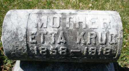 KRUG, ETTA - Montgomery County, Ohio | ETTA KRUG - Ohio Gravestone Photos