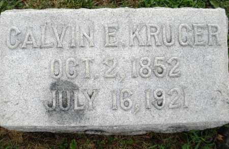 KRUGER, CALVIN E. - Montgomery County, Ohio | CALVIN E. KRUGER - Ohio Gravestone Photos
