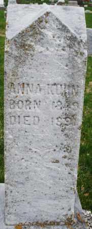 KUHN, ANNA - Montgomery County, Ohio | ANNA KUHN - Ohio Gravestone Photos
