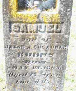 KUHNS, SAMUEL - Montgomery County, Ohio | SAMUEL KUHNS - Ohio Gravestone Photos