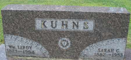 KUHNS, WILLIAM LEROY - Montgomery County, Ohio | WILLIAM LEROY KUHNS - Ohio Gravestone Photos