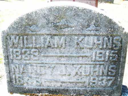 KUHNS, WILLIAM - Montgomery County, Ohio | WILLIAM KUHNS - Ohio Gravestone Photos