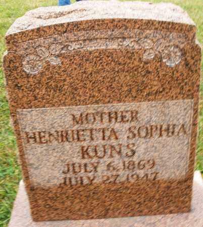 KUNS, HENRIETTA SOPHIA - Montgomery County, Ohio | HENRIETTA SOPHIA KUNS - Ohio Gravestone Photos